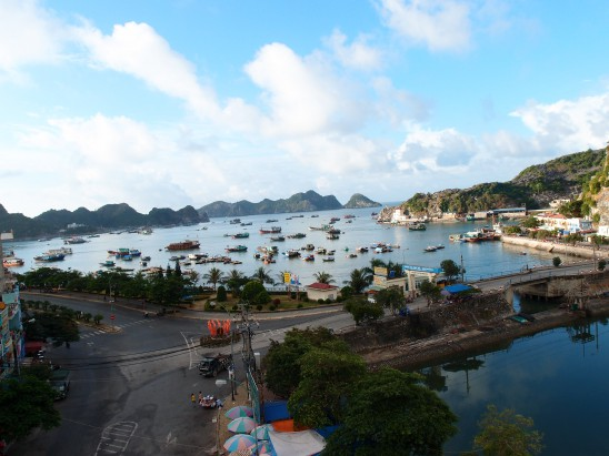 view from hotel Cat Ba island