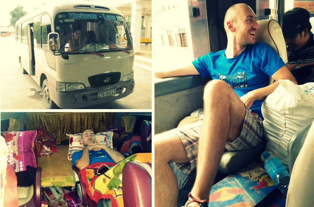 Bus from Laos to Vietnam