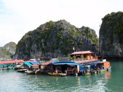 fishing village cat ba island