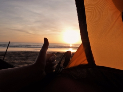Sleeping On The Beach in MUI